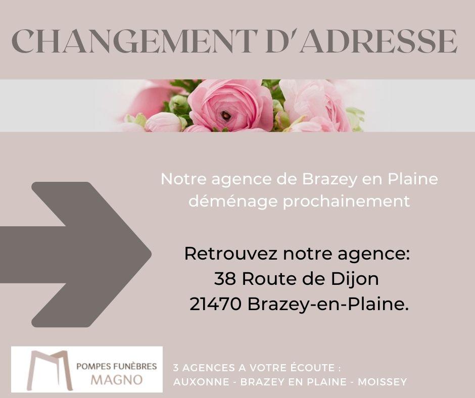 L'agence de Brazey en Plaine déménage prochainement